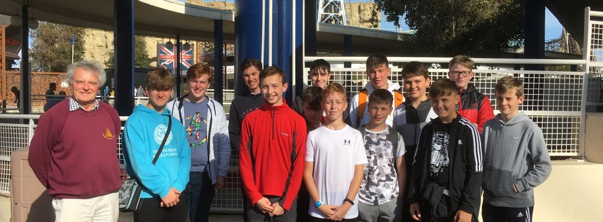 The lads at Blackpool Pleasure Beach