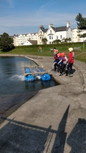 Raft in the water in Isle of Man