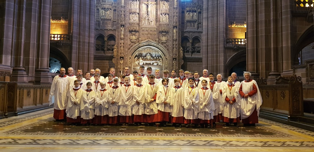 The choir at Liverpool Cathedral in October 2019